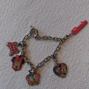 Minnie Mouse & Daisy Duck Charm Bracelet